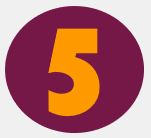 Bild: Ziffer 5 in lila Kreis