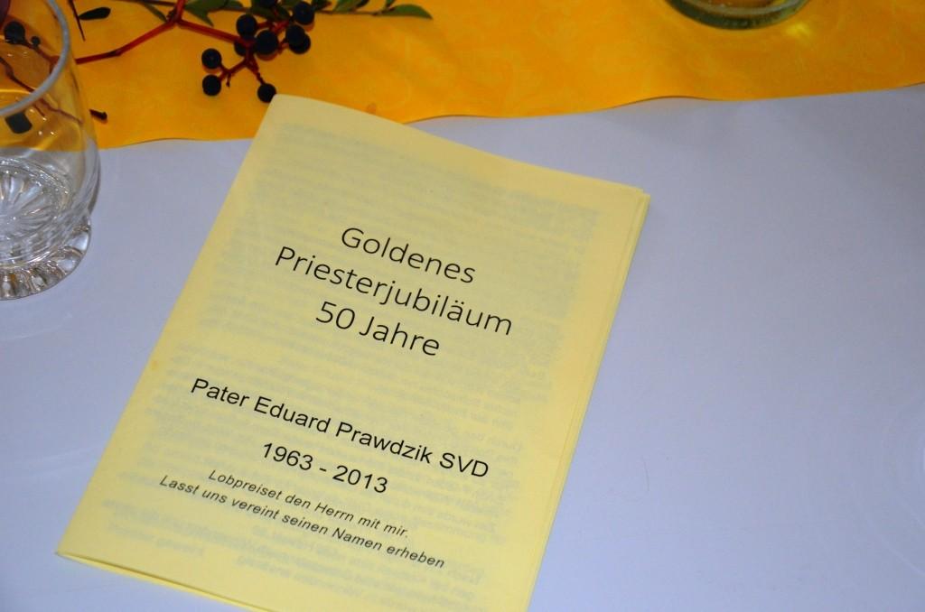 Pater Eduard Prawdzik SVD (Societas Verbi Divini / Steyler Missionar) feiert Goldene Primiz.
