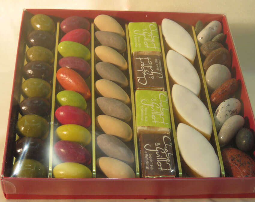 assortiment chocolats, calissons