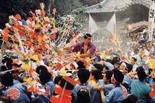 ぎふ歴史街道地歌舞伎明治座常盤座杵振り祭花馬祭