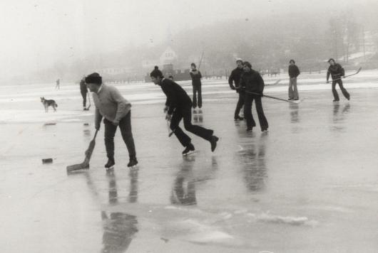 Eishockey auf dem Selliner See