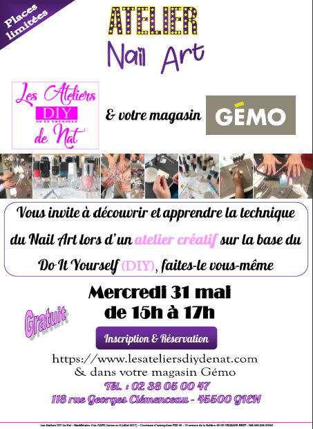 Atelier Do It Yourself Les Ateliers DIY de Nat & GÉMO