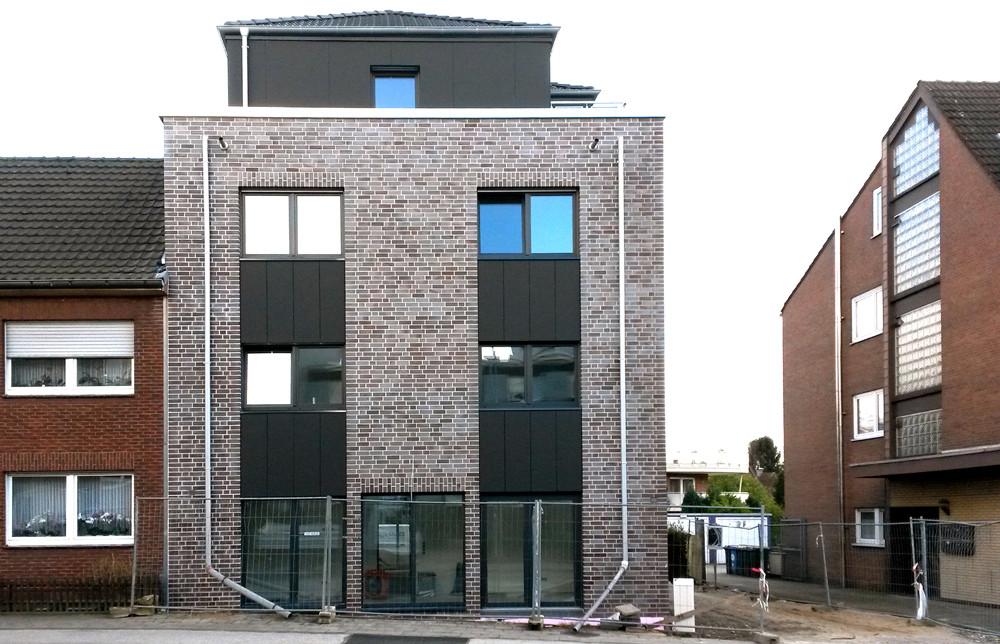 BV Kaarst / 002 - Martinusstraße - Mehrfamilienhaus -  Massivbau - Rohbauerstellung - Klinkerarbeiten