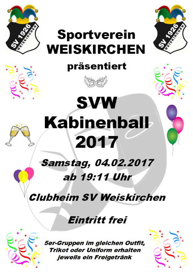 Kabinenball SV Weiskirchen