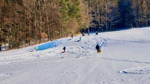 Schlittenfahren am Moritzberg