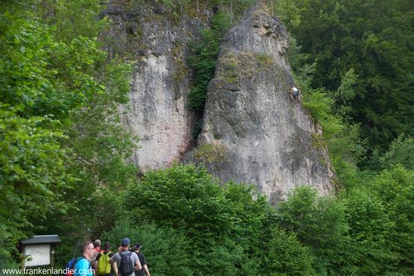 Kletter in der fränkischen Schweiz