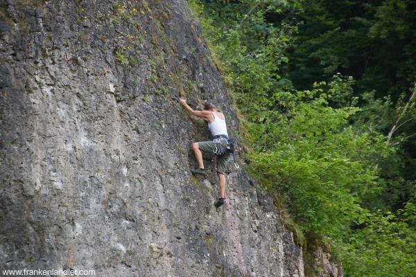 Klettern in der fränkischen Schweiz
