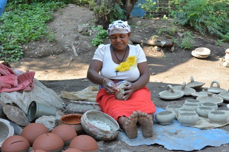 Pottery in action