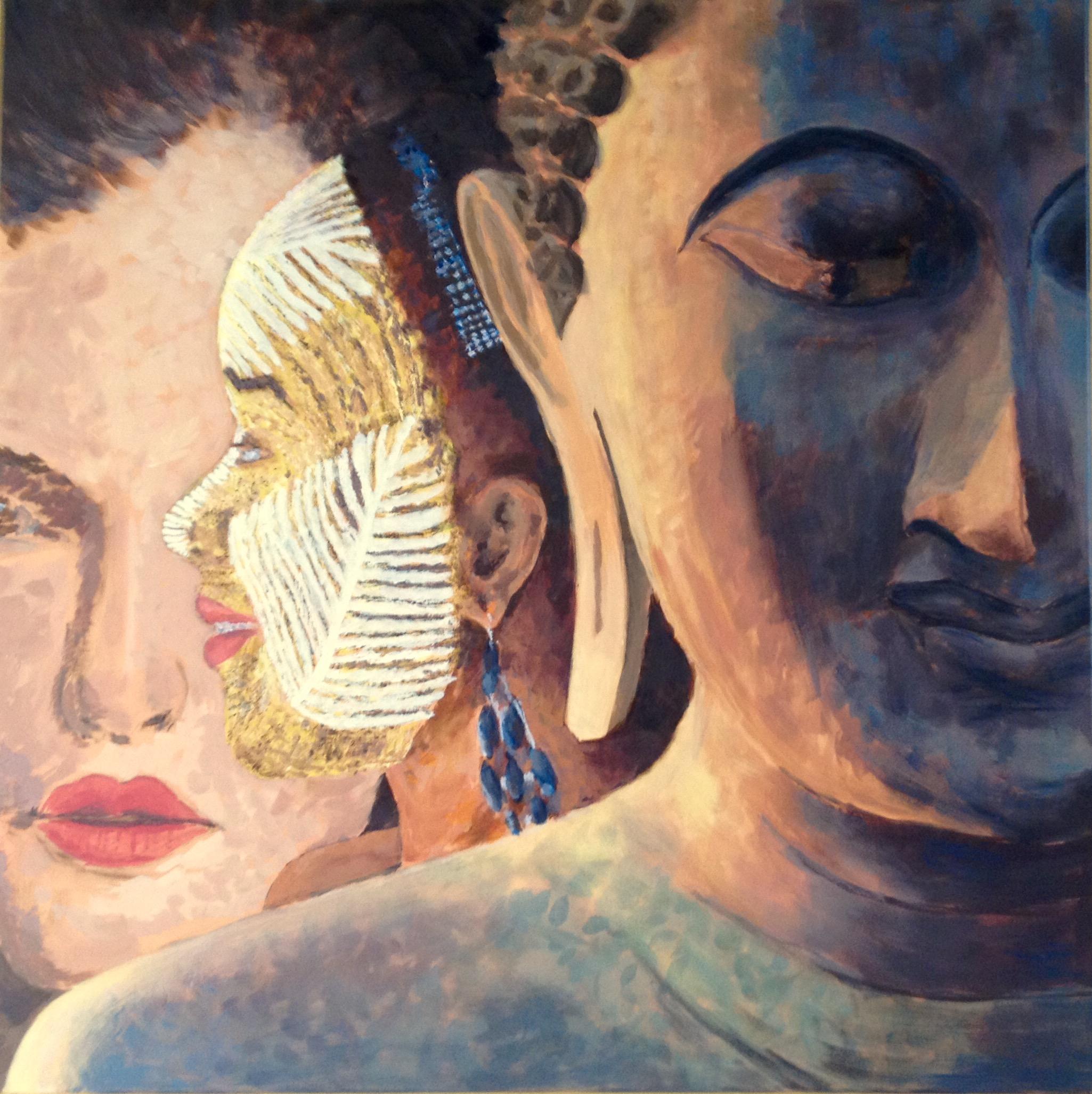 90 x 90 cm - Acryl auf Leinwand