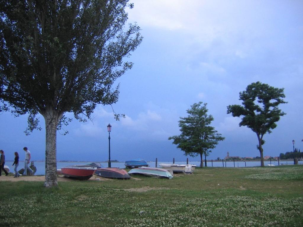vor dem Gewitter auf Murano