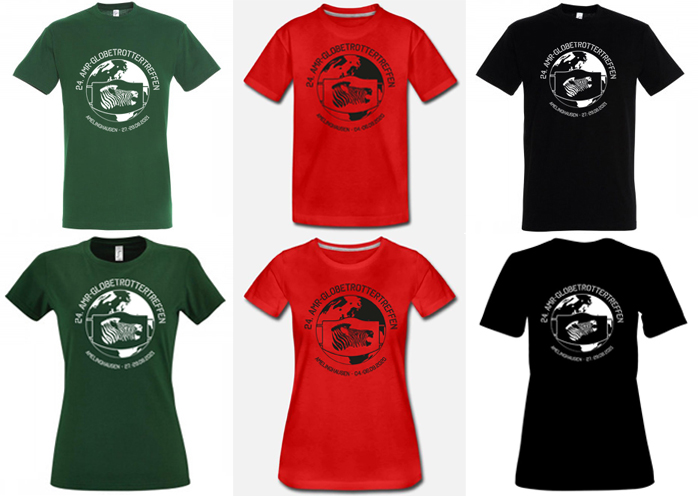 T-Shirt-Sonderkollektion vom 24. AMR-Treffen 2021 jetzt im Online-Shop verfügbar