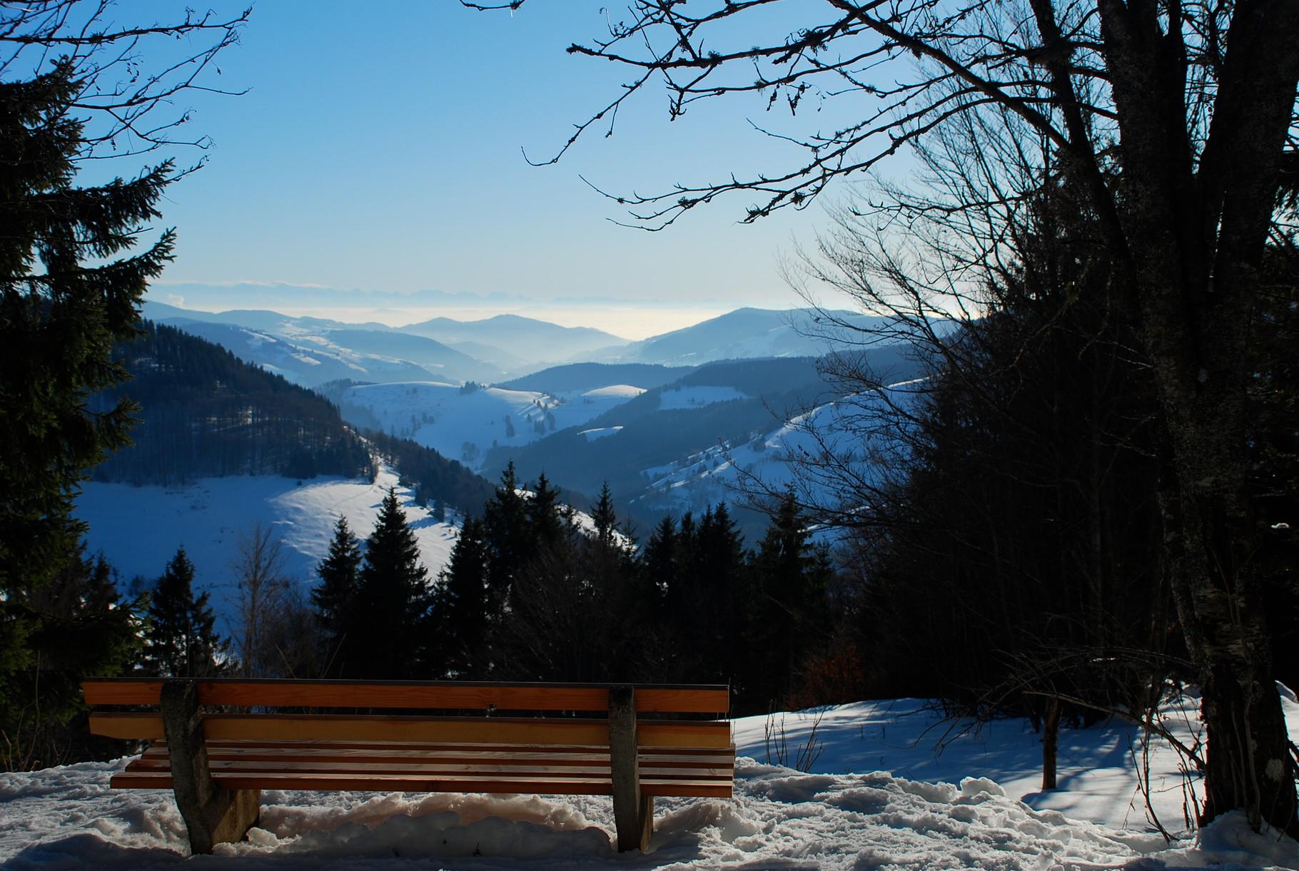 Perfekter Ausblick in das Tal