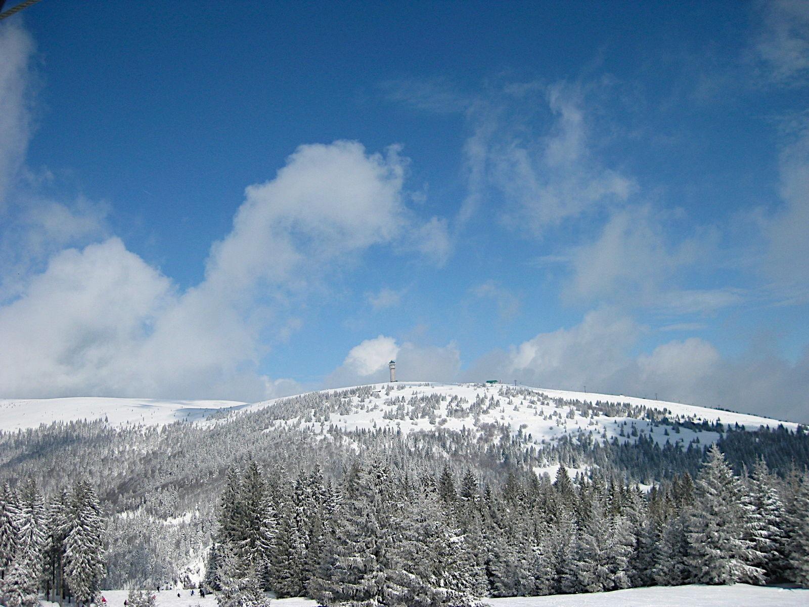 Der Feldberg, aufgenommen von Bärental