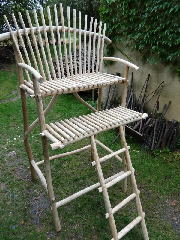 Fabrication de meuble en bois rond for Fabrication mobilier de jardin en bois