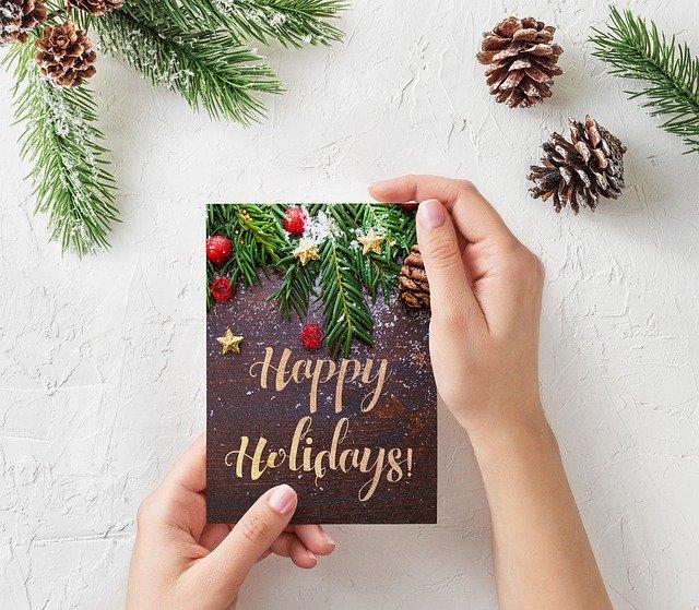 Stimmungsvolle Weihnachtskarte selber machen