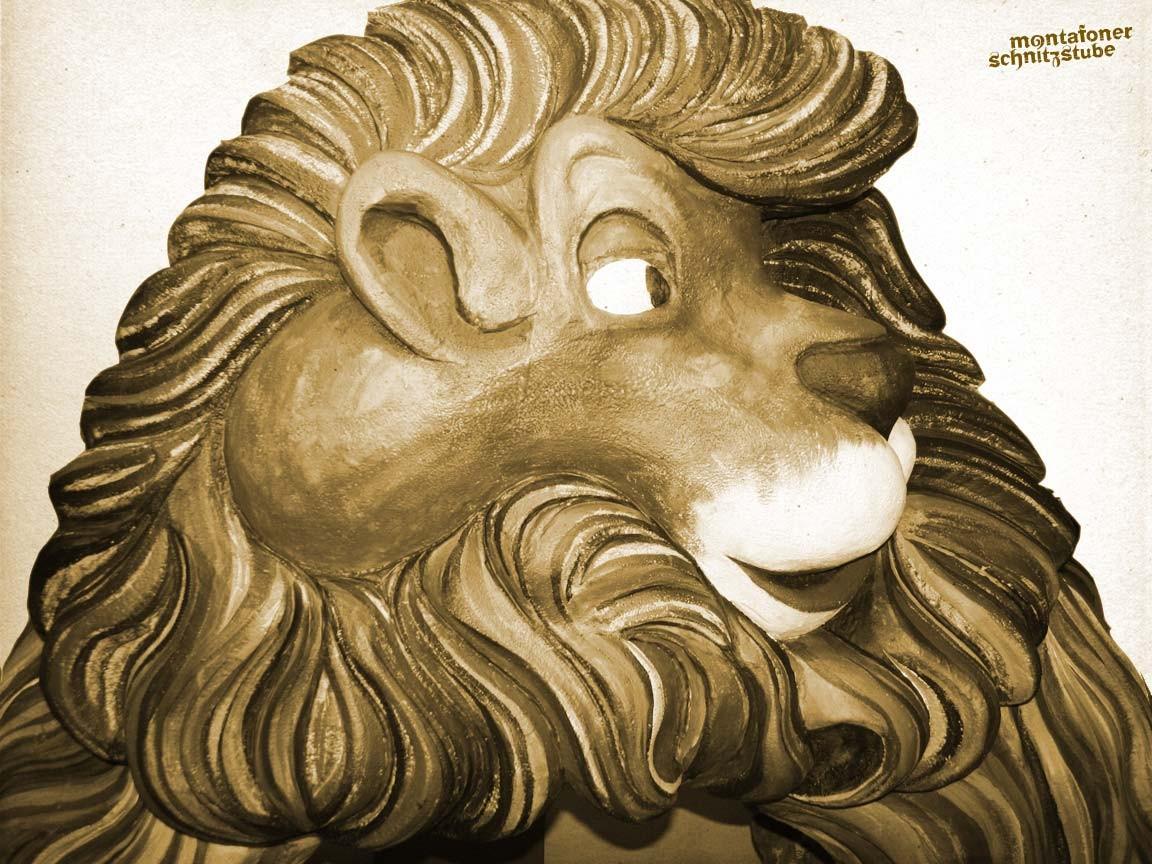 Löwe, Styropor, Oberfläche aus Epoxydharz und Glasfasergewebe, Acryl, lackiert