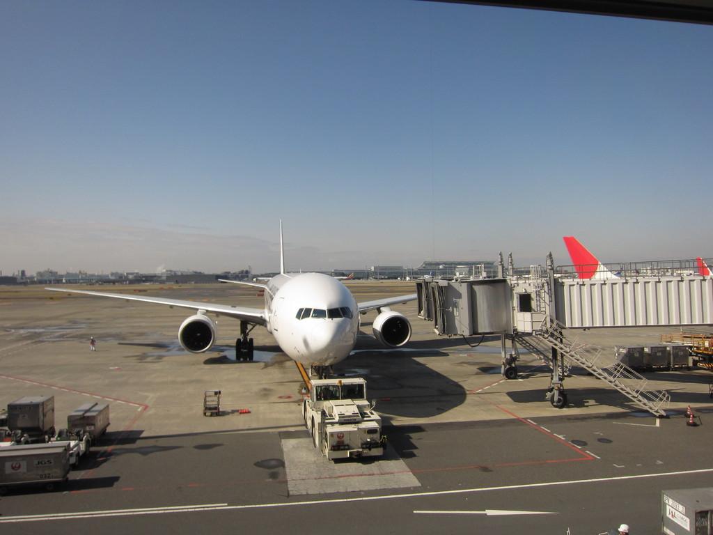 久し振りの家族旅行。羽田から松山へ。