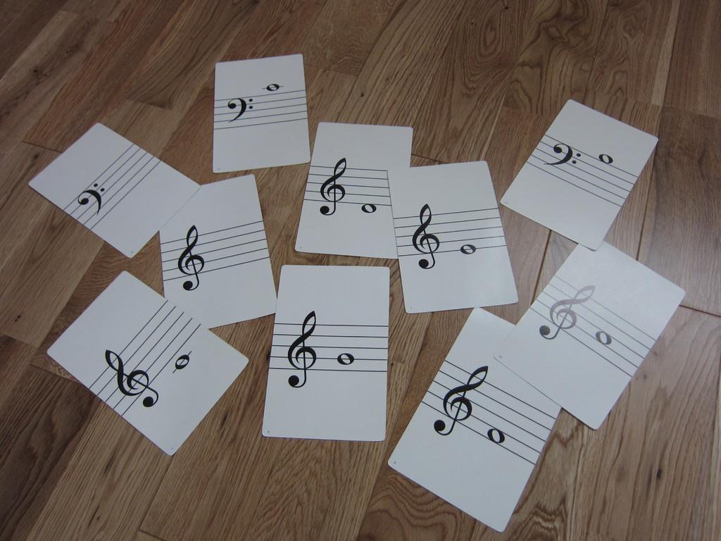 ドレミカードを使って読譜の勉強開始!