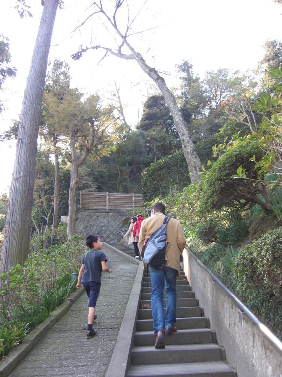 長い長い階段をのぼると…