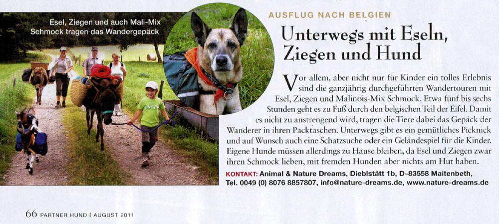 """Zeitschrift """"Partner Hund"""" August 2011"""