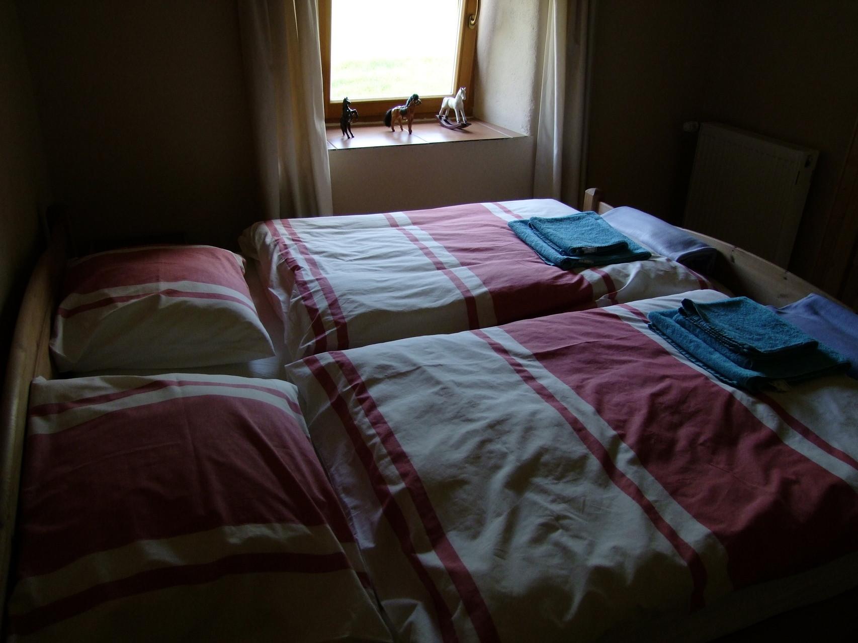 Das obere Appartement: Schlafzimmer