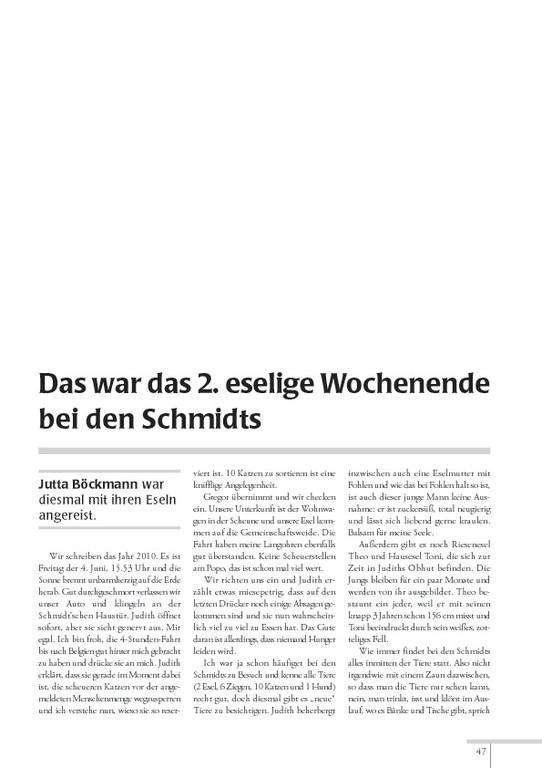 "Esel-POST ""Ausgabe 93, Juni 2011"""