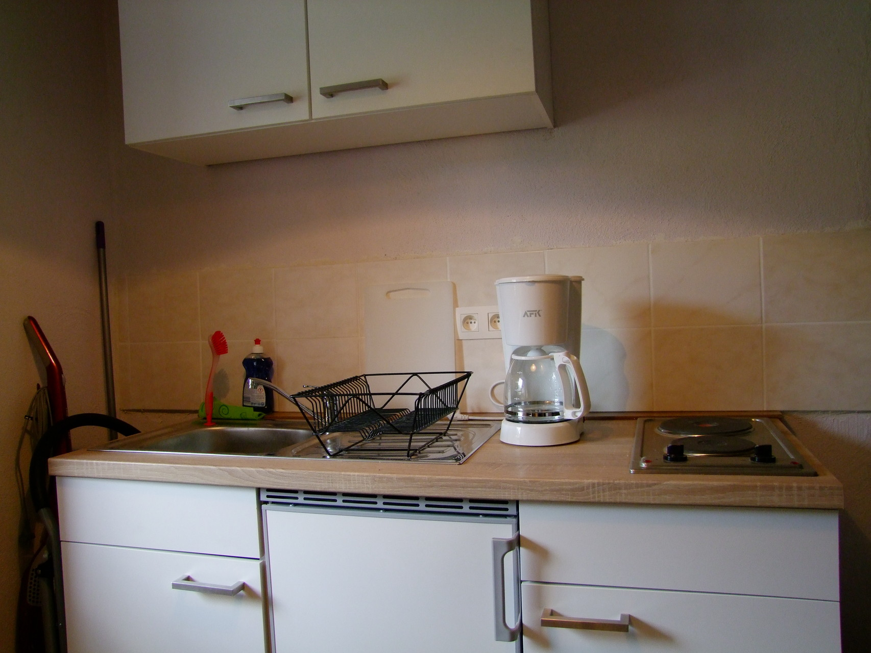 Das untere Appartement: Küche