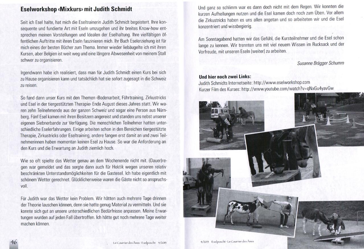 Schweizer Esel-Poscht Dezember 2013