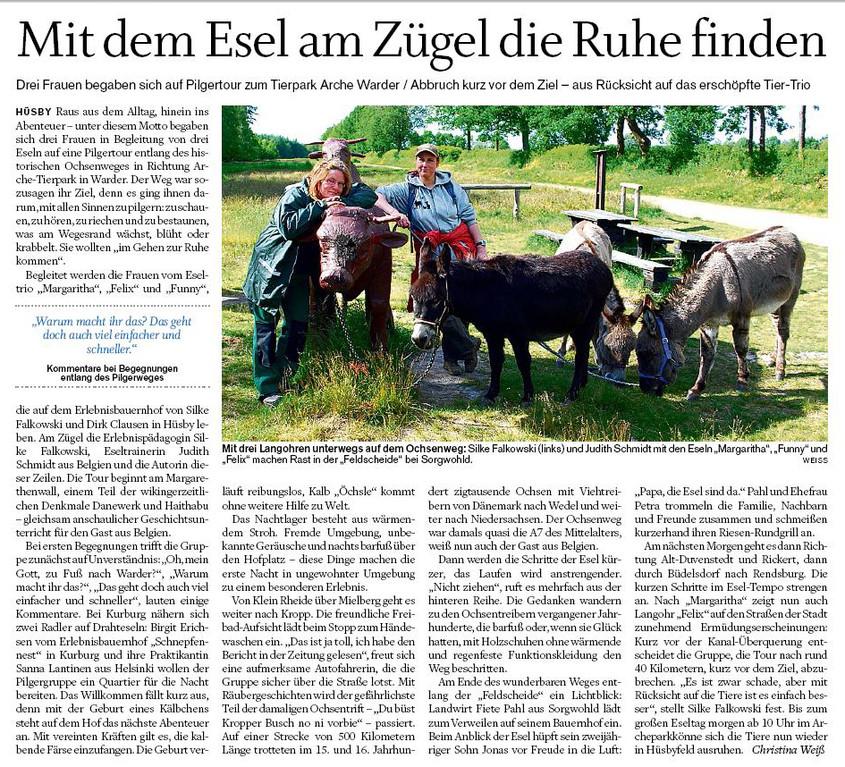 Tageszeitung in Schleswig Holstein am 9. Juni 2012