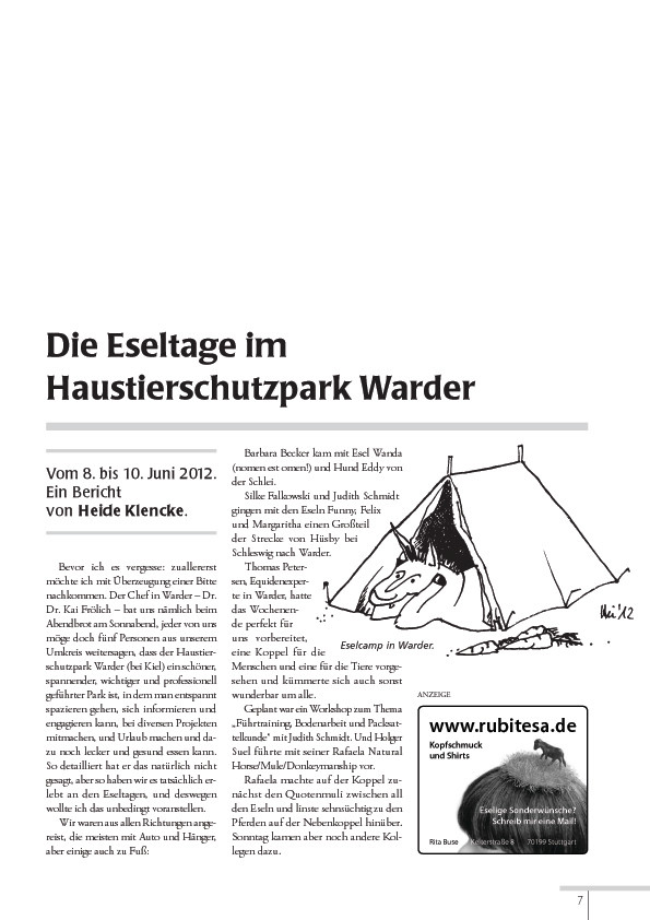 "Esel-POST ""Ausgabe 98, September 2012"""