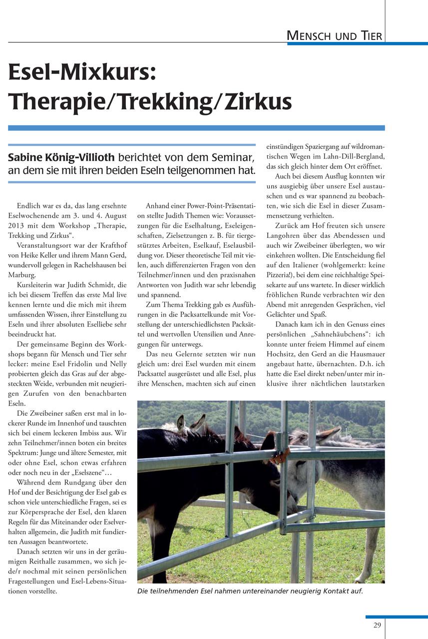 Esel-Post Ausgabe 104 März 2014 von Sabine König-Villioth