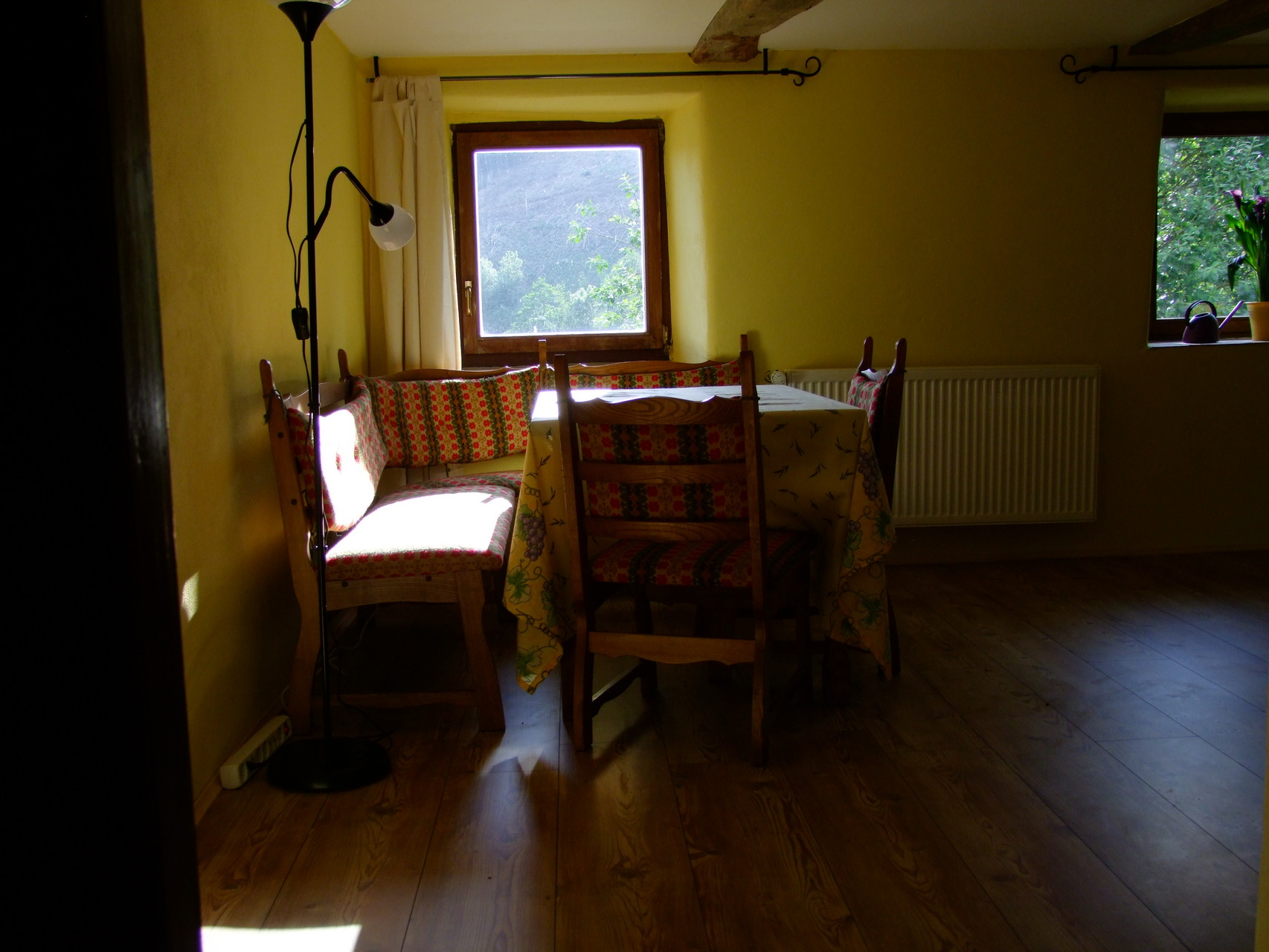 Das obere Appartement. Essecke