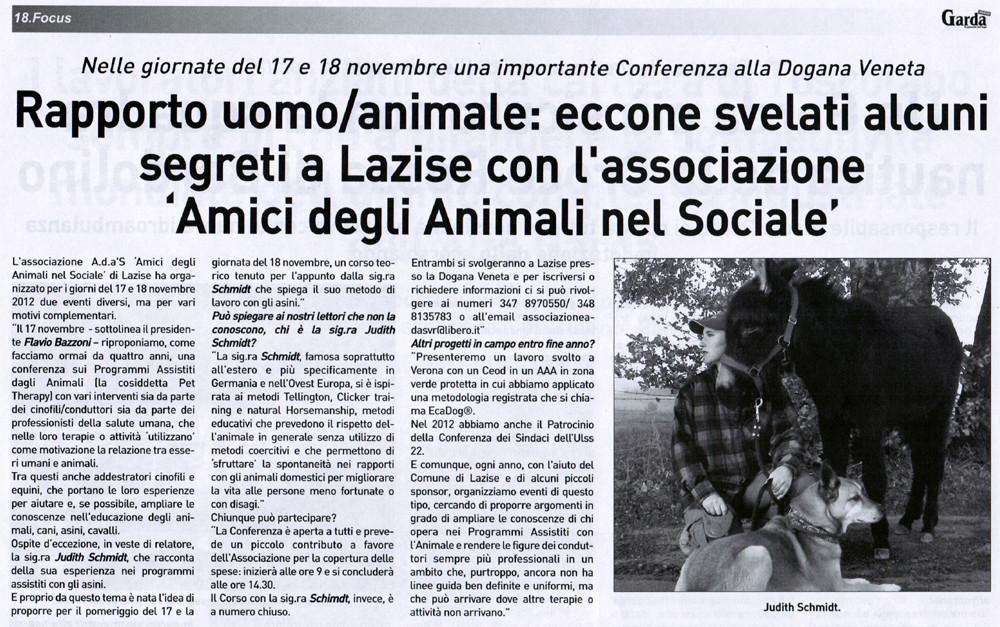 ITALIEN: Garda Press 19.11.2012