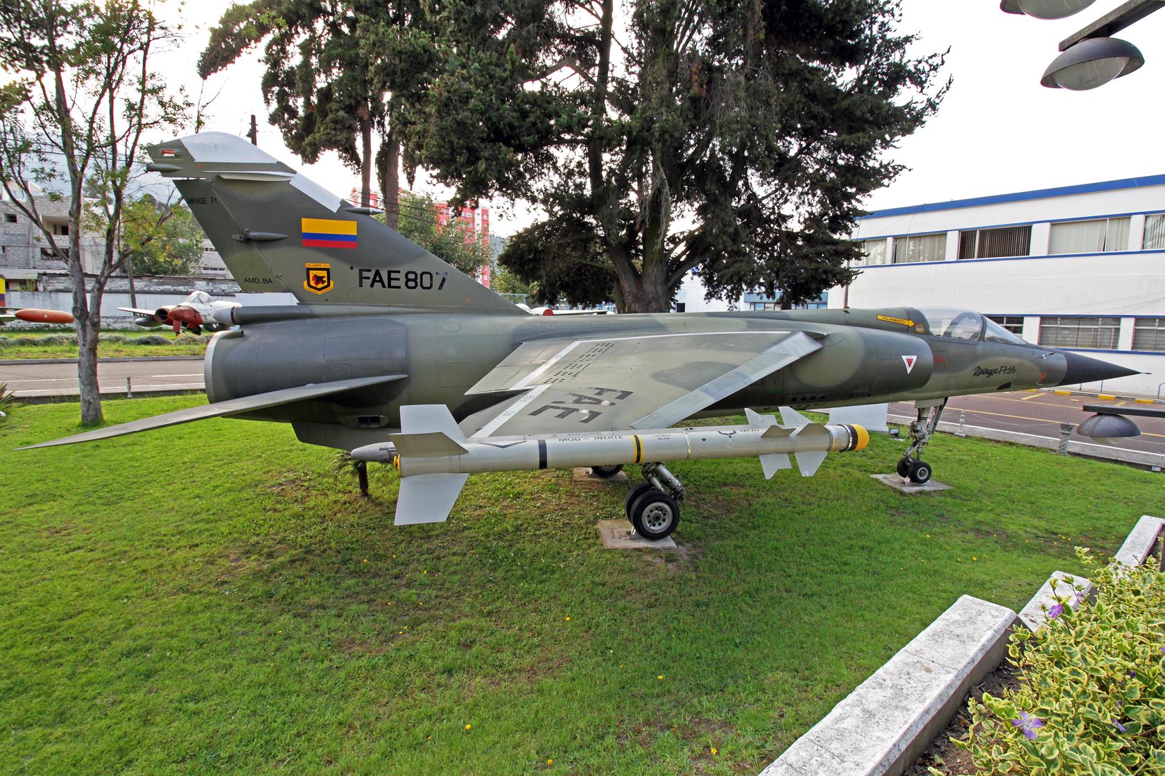 Fuerza Aérea Ecuatoriana Dassault Mirage F.1JA FAE-807 - 'FAE-807' war die zweite FAE Mirage F.1JA, die im Luftkampf gegen FAP Su-22 am 10 February 1995 teilgenommen hat.