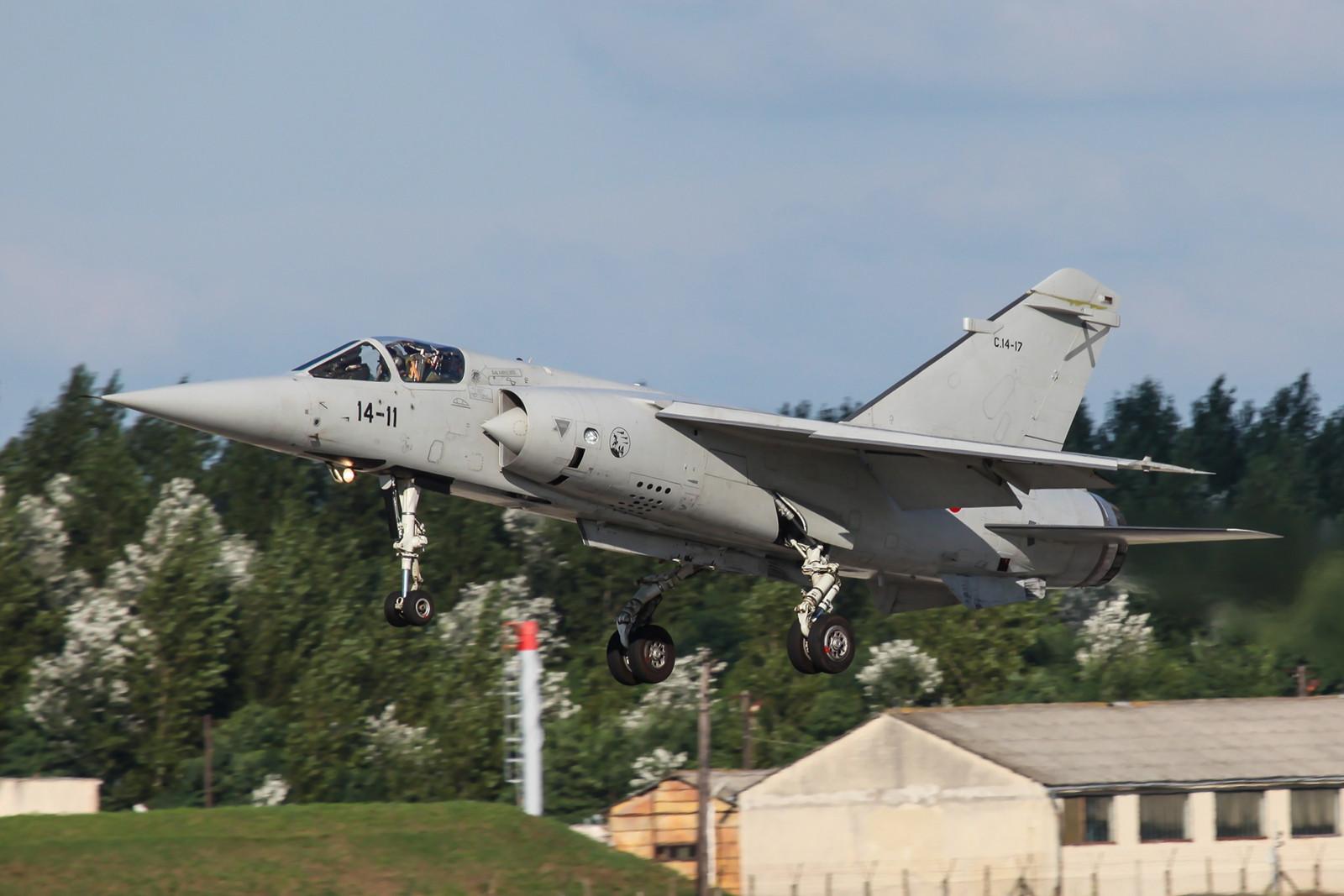 C.14-17, Mirage F-1M, die aus einer F-1C der ersten Lieferung aus Frankreich stammt. Landung in Kesckemet in Ungarn im August 2010.