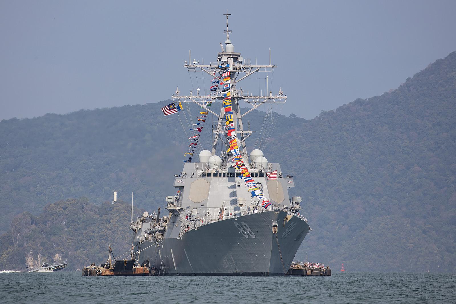 Die USS Preble, ein Zerstörer der Arleigh-Burk-Klasse.