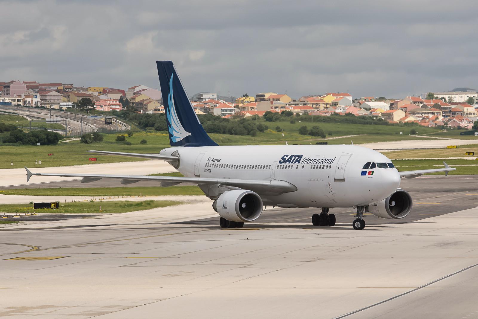 SATA von den Azoren hat noch einige Airbusse A310 im Dienst. Es sind Europas letzte Passagiermaschinen dieses Typs.
