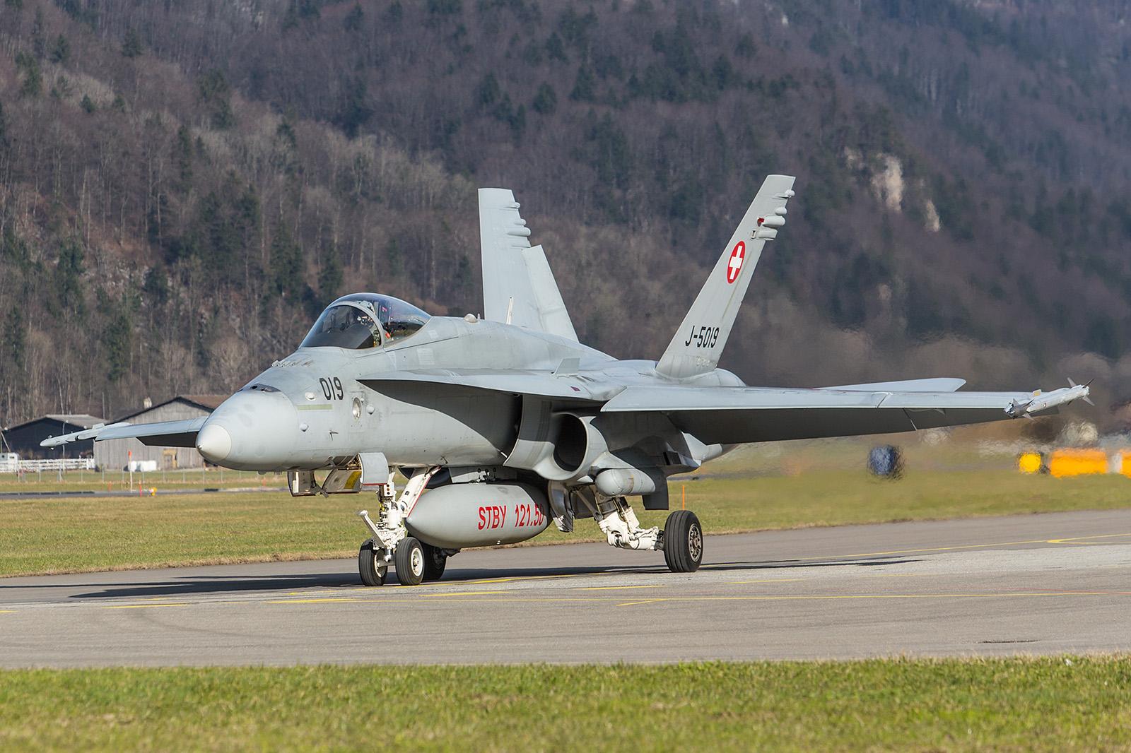 Noch 25 Exemplare der einsitzigen F/A-18C fliegen in der Schweizer Luftwaffe
