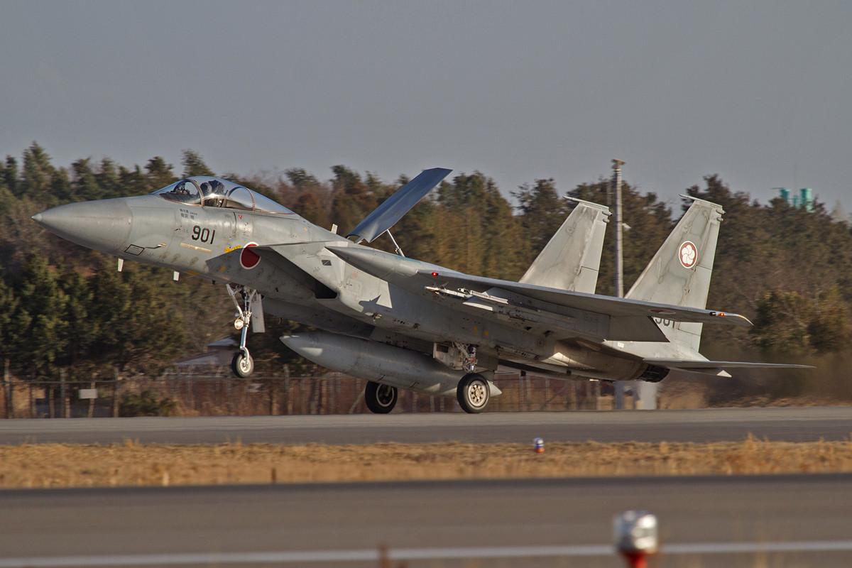 Nochmals die F-15 bei der Landung.