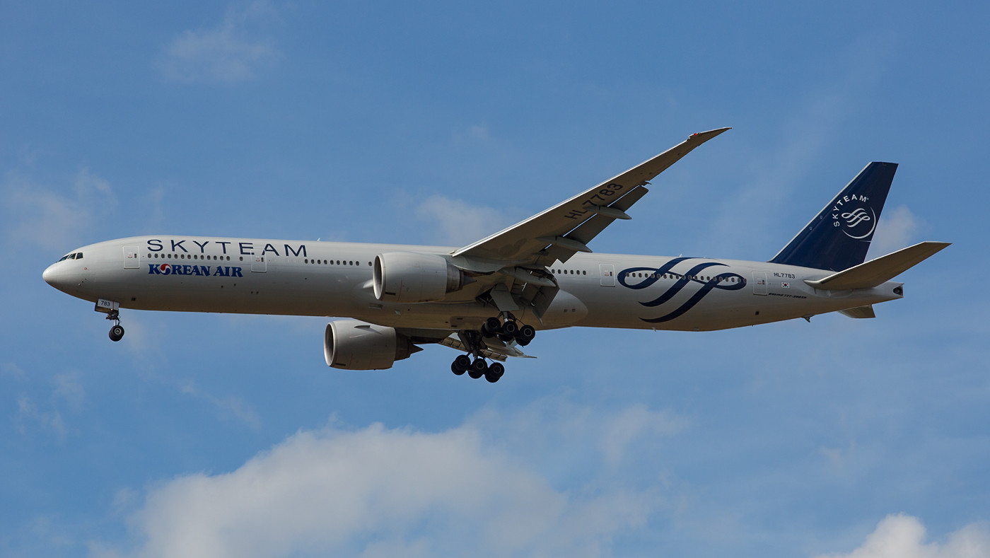 Korean Air´s SKYTEAM-777, die HL7783