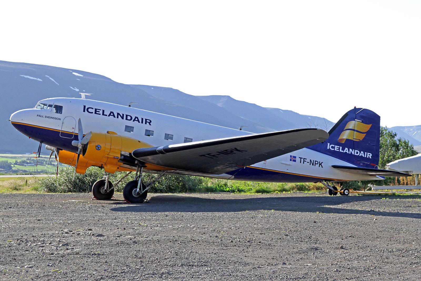 "Icelandair Douglas C-47 (DC-3-360) TF-NPK ""Páll Sveinsson"", AEY, 14. August 2020"