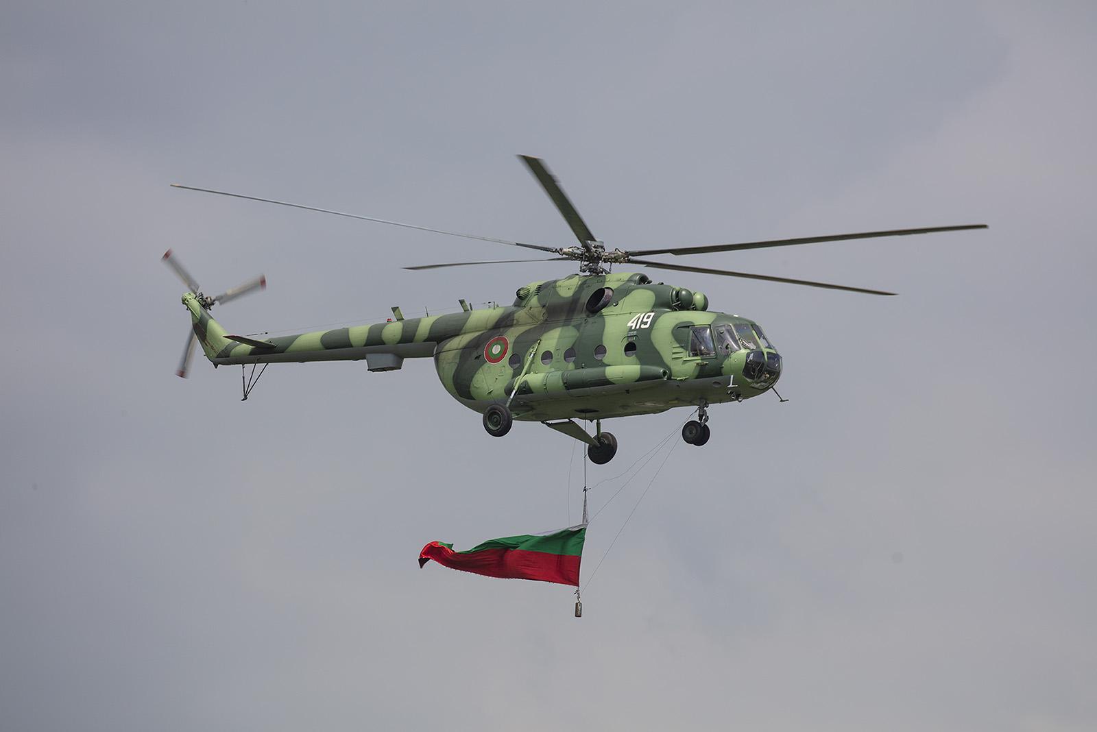 Den Anfang machte diese Mi-17 aus Krumovo.