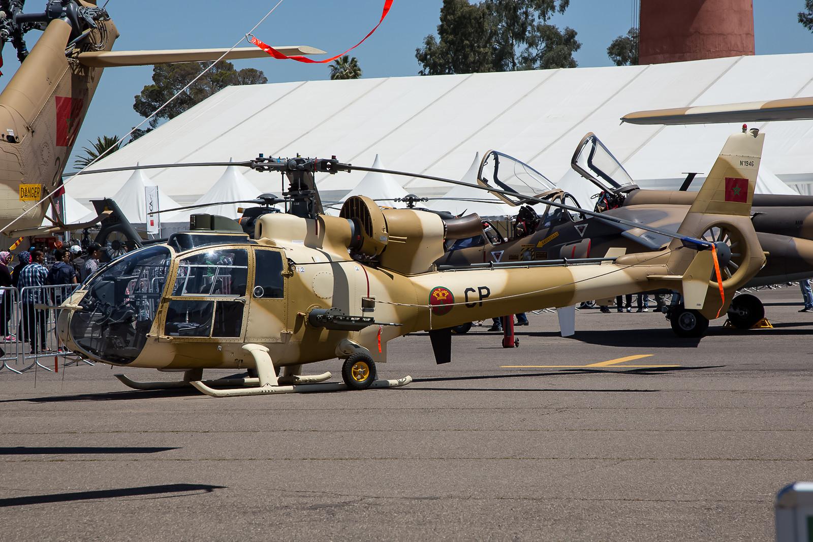 Die SA-342L Gazelle sind bei der EH 1 in Rabat zuhause.