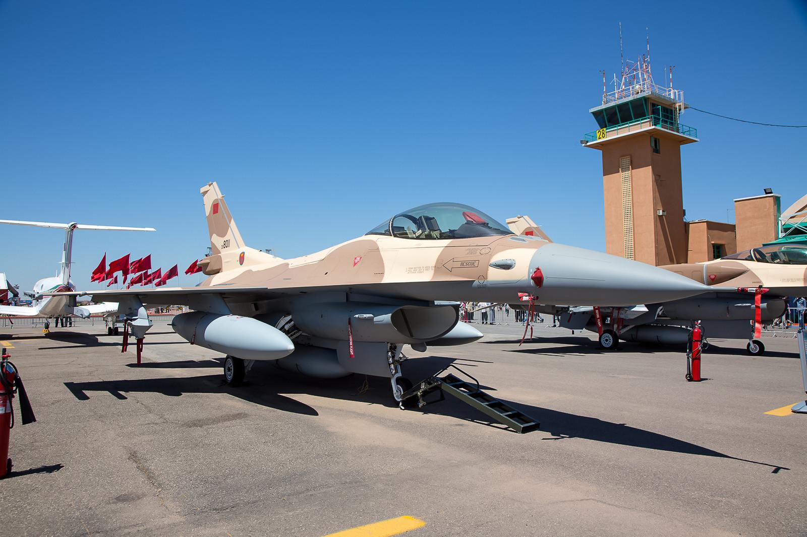 Relativ neu sind die F-16C/D Block 52 aus Ben Guerir