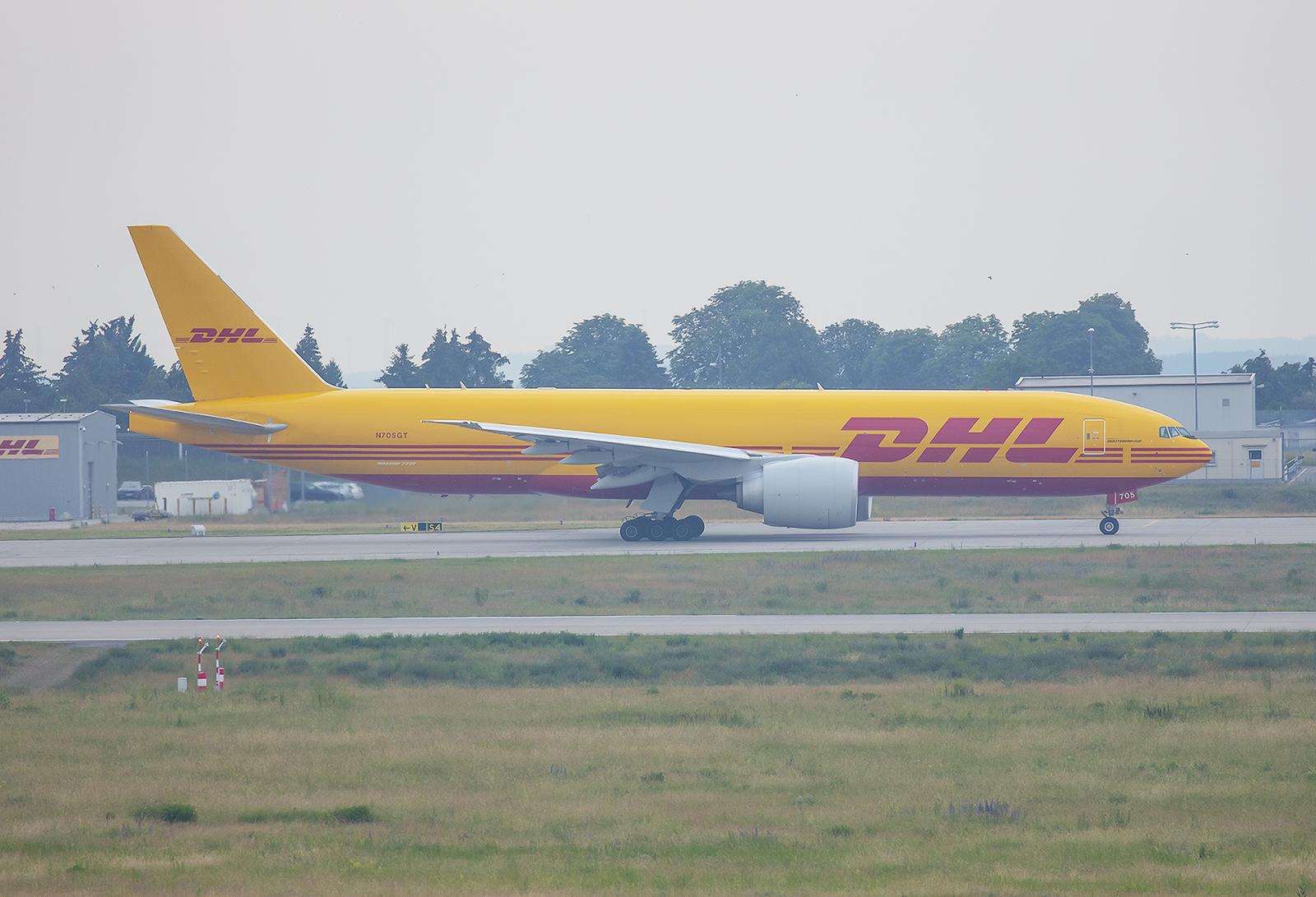 Southern Air betreibt diese Boeing 777 für den DHL, die eigentlich zu Aerologic gehen sollte.