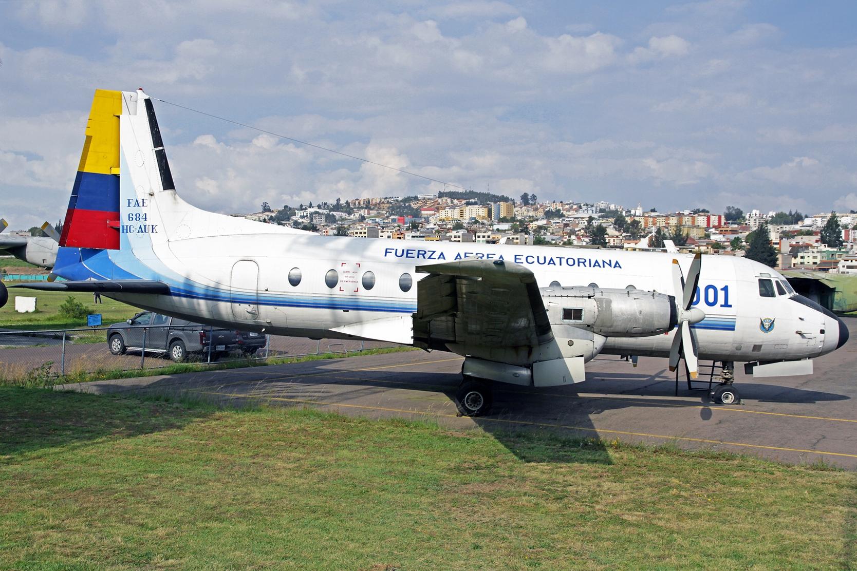 Fuerza Aérea Ecuatoriana Hawker-Siddely HS-748 Avro FAE-684 (HC-AUK) - Eines der ehemaligen Präsidenten Flugzeuge.