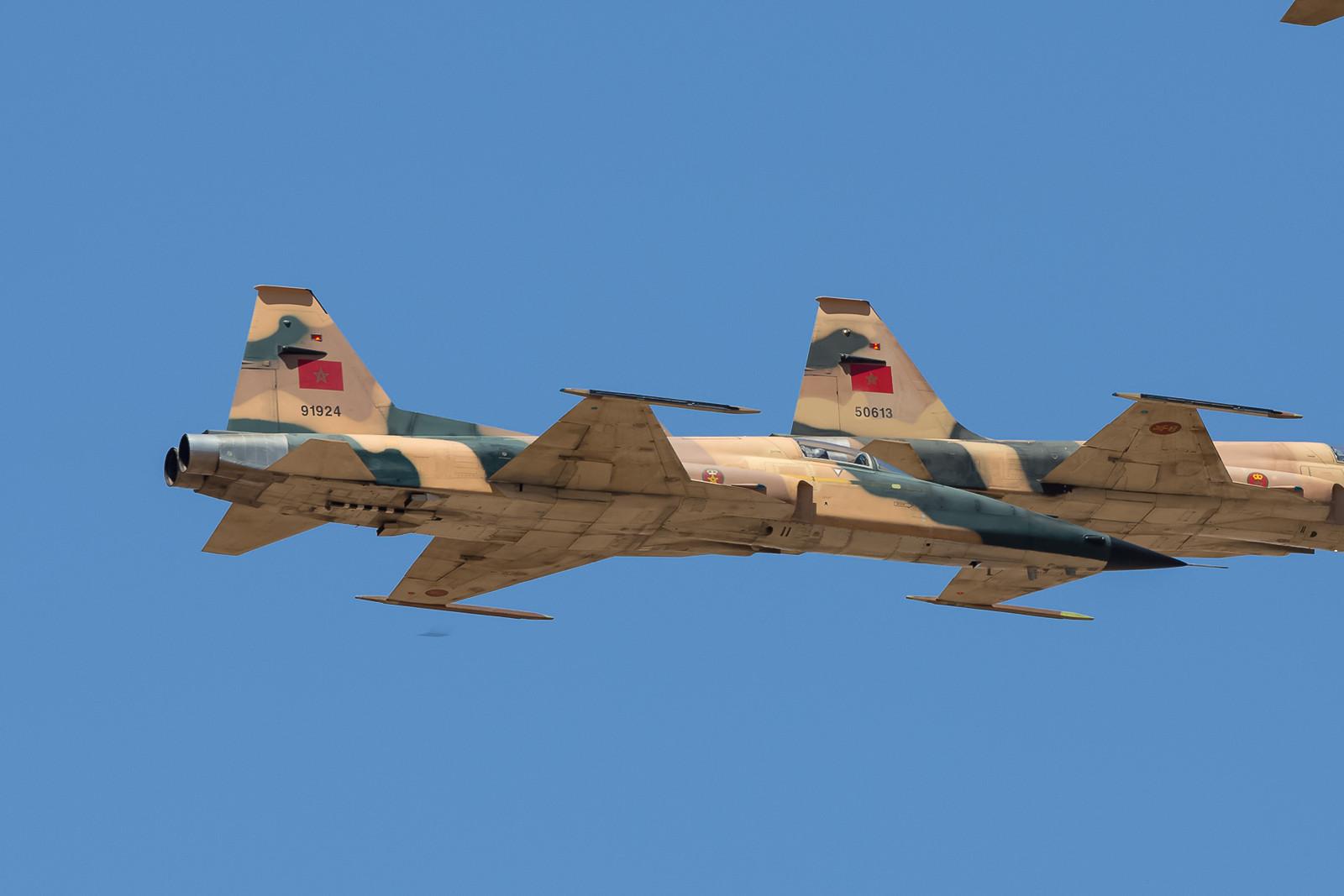 Die Formationen waren wie hier die F-5E wirklich sehr eng.