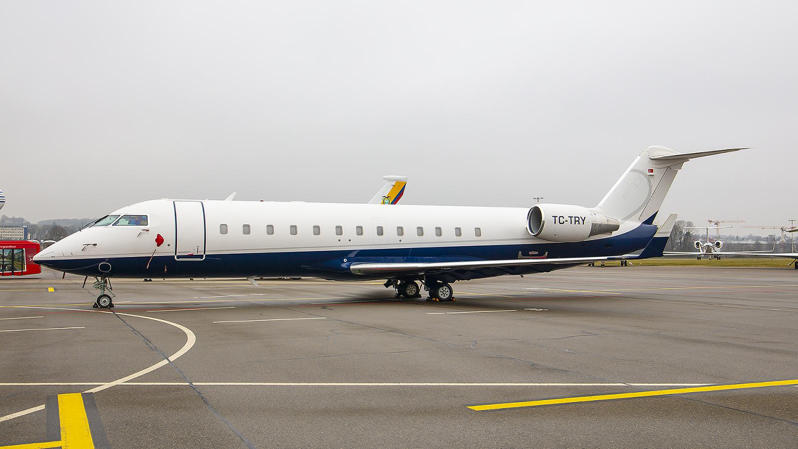 TC-TRY, eine CRJ-200 der Türkischen Regierung.
