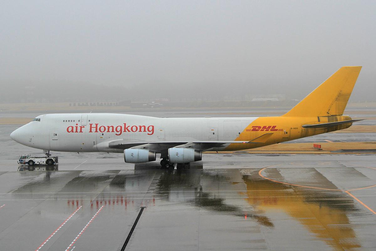 Diese Boeing 747-400BCF ist eine ehemalige Passagiermaschine von Cathay.
