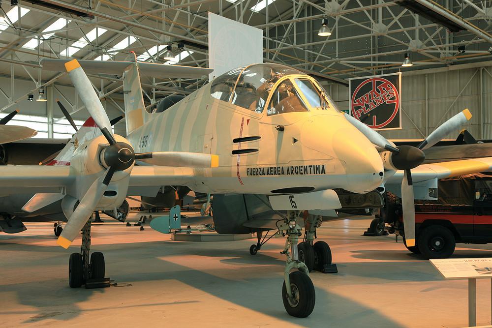 Diese IA-58A Pucara wurde während des Falklandkrieges erbeutet.